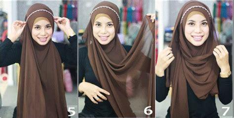 tutorial hijab queenova hijab tutorial headband style hijab style pinterest