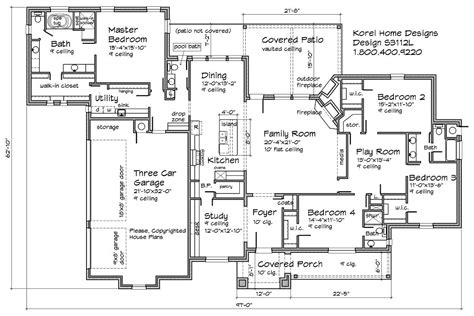 floor plan designs s3112l house plans 700 proven home designs by korel home designs