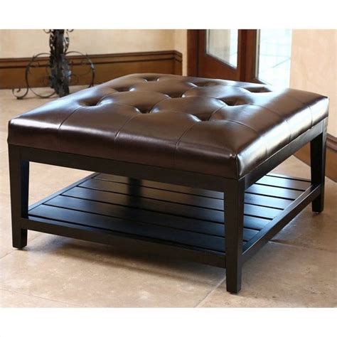 Leather Ottoman Table by 25 Best Ideas About Leather Ottoman Coffee Table On