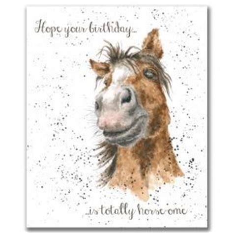 printable horse happy birthday cards oc047 horseome occasion card by wrendale designs