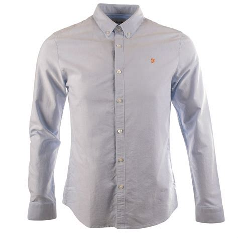 farah vintage farah sky blue brewer sleeve shirt