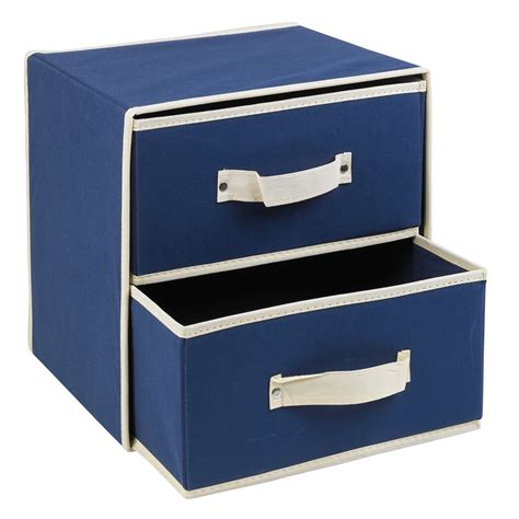 Collapsible Drawer Organizer by Collapsible Fabric 2 Drawer Storage Boxes Containers Bits