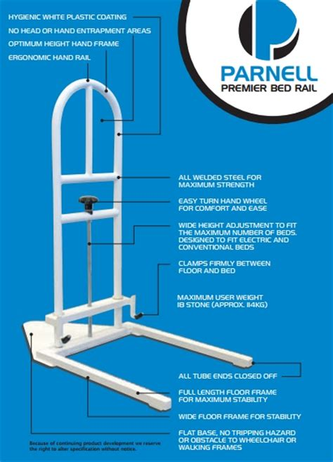 parnell premier bed rail sports supports mobility healthcare products