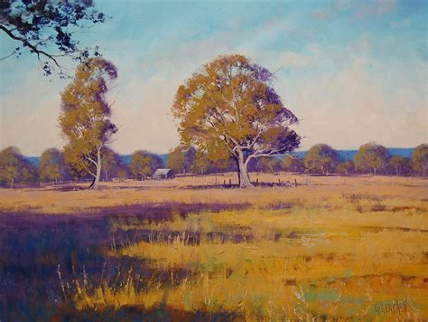 Landscape Paintings Australia Australian Summer Landscape By Artsaus On Deviantart