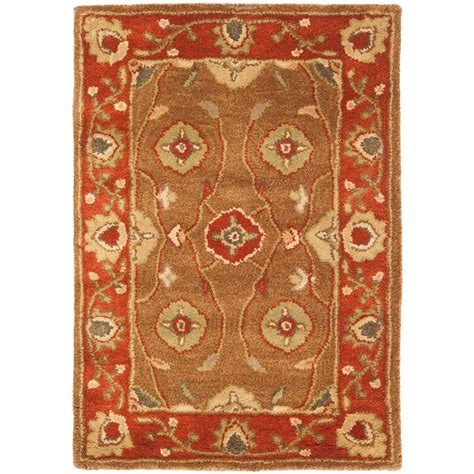 2 x 3 area rugs safavieh heritage beige rust 2 ft x 3 ft area rug hg963a 2 the home depot