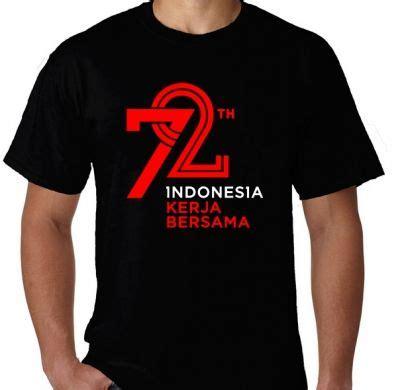 Kaos Distro Desain Merdeka Indonesia Ukuran S M L Xl 2xl 3xl kaos hut ri 72 merdeka 17 agustus versi 2017 2 kaos premium