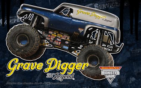 grave digger the legend monster truck grave digger the legend allmonster com where monsters