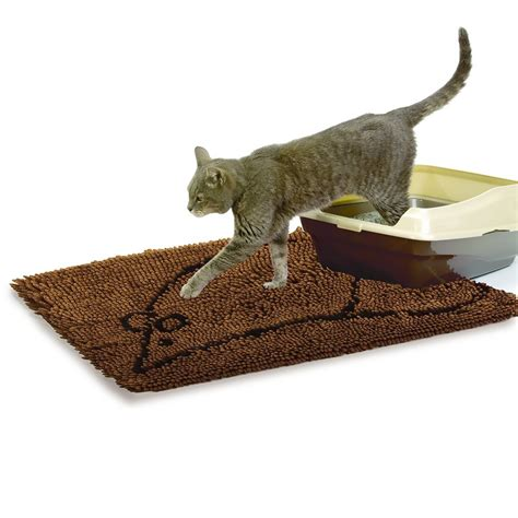 Mats For Cats by Cat Litter Mat Large Grey Entirelypets