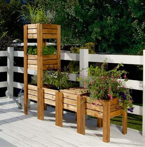 giardino terrazzo fai da te contenitori per orto sul balcone fai da te modulari