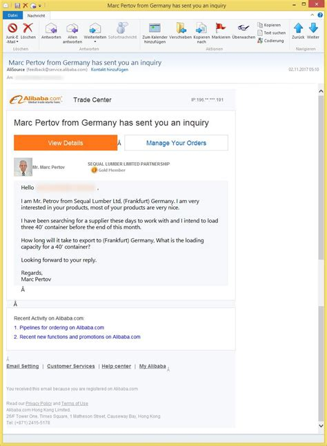 alibaba email contact mr ian appleton sent you a message oder marc pertov from