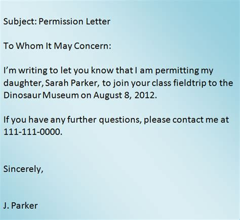 Permission Letter To Write Exams How To Write A Letter To Asking Permission