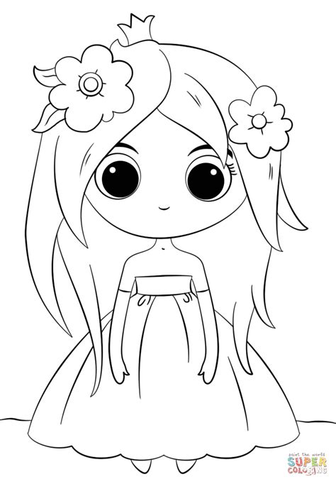 printable coloring pages kawaii cute chibi princess coloring page free printable