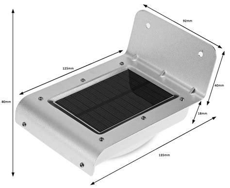 lu solar sensor gerak outdoor 16 led weatherproof