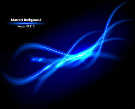 Dynamic Light Waves Vector Background Free Vector In