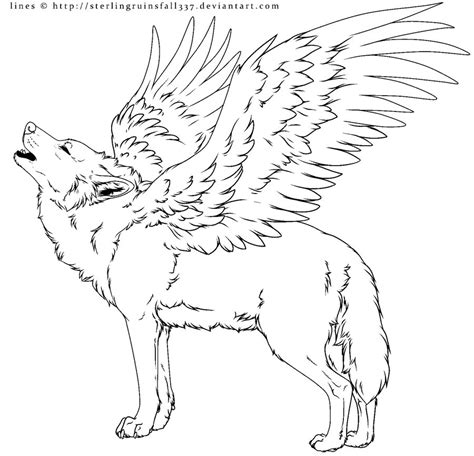winged wolf coloring page female winged wolf coloring pages coloring pages