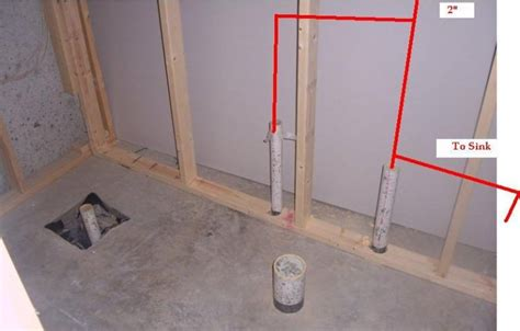 basement bathroom plumbing vent 301 moved permanently
