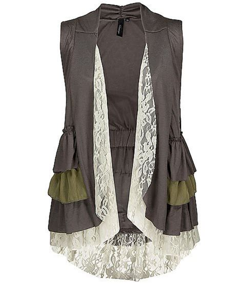 ruffle vest bke boutique ruffle vest s from buckle