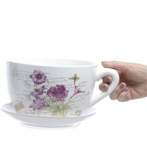 inspired tea cup and saucer flower planter
