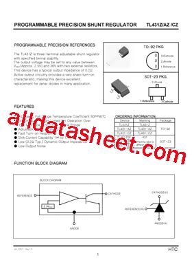 transistor w431 datasheet tl431 azsf datasheet pdf list of unclassifed manufacturers