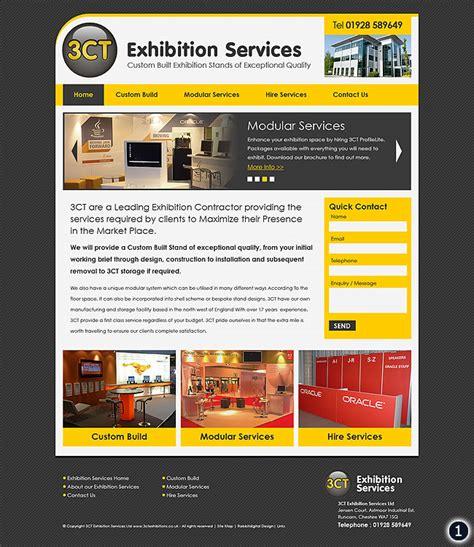 home page design sles exhibition company website design 3ct in runcorn
