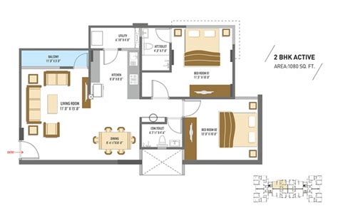 flat plan millennium floor plans 2bhk 3bhk flats floors plans