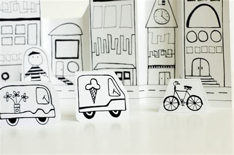 How To Make A Paper City - on the cheap paper city cut outs