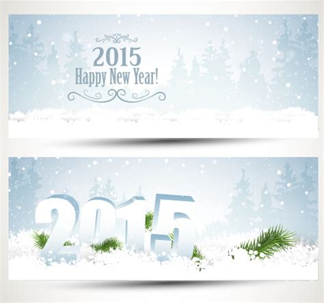 new year banner 2015 banner 2015 with new year vector 05
