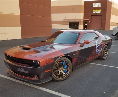 rusty muscle car dodge challenger hellcat gets rusty wrap becomes the