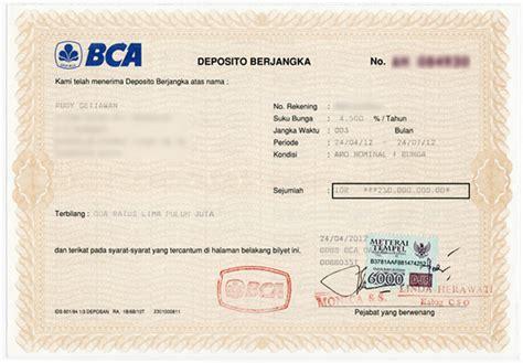 membuka rekening deposito bca perjalanan investasiku ales