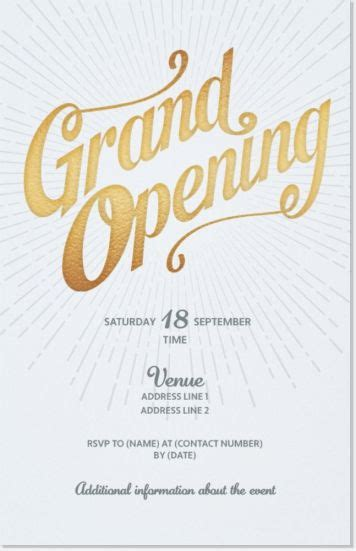 invitation card design for grand opening 11 best grand opening invitation images on pinterest