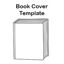 free blank book cover template report and reading clip art