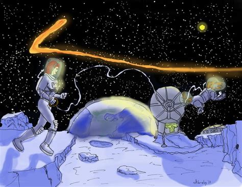 Walking To The Moon walking on the moon by dhbraley on deviantart