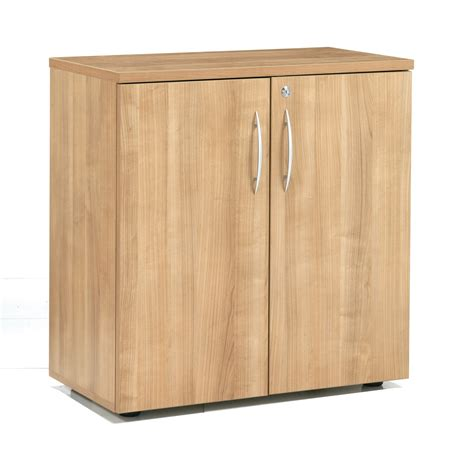 Storage Cabinets With Doors Wood E Space Low Storage Cabinet With Wooden Doors