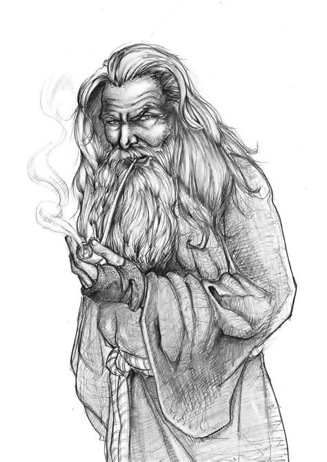 sketchbook grey paper the grey wizard by mikhairon on deviantart