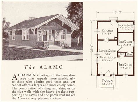 Lewis Homes Floor Plans tiny bungalow 1922 alamo lewis manufacturing