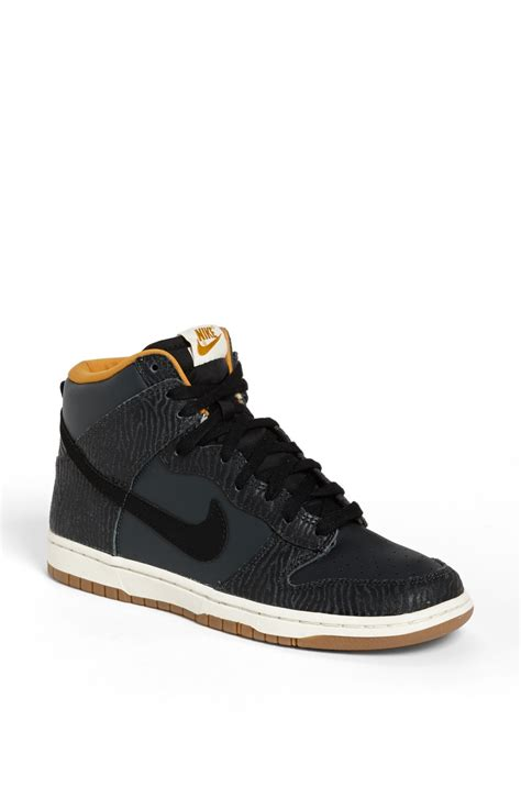 black high top basketball shoes nike dunk hi print high top basketball sneaker in