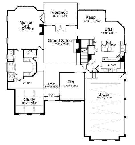 1st floor plan house westdrake place 8091 4 bedrooms and 3 baths the house designers