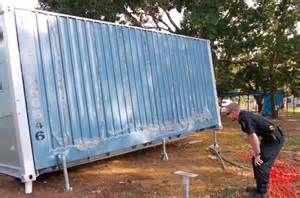 Home Workshop Plans by Building A Foundation For Your Shipping Container