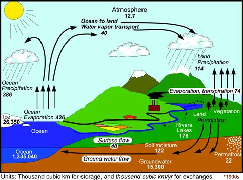 water diagram the changing water cycle metlink teaching weather and