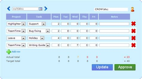 Sharepoint Time Tracking Template
