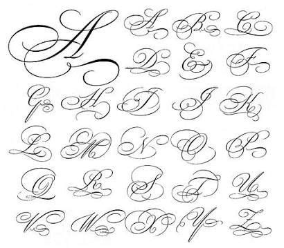 cursive letters az resultado de imagen de copperplate capital flourishes 1172