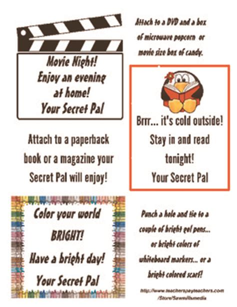 secret pal messages secret pal tags and notes and choose to make your