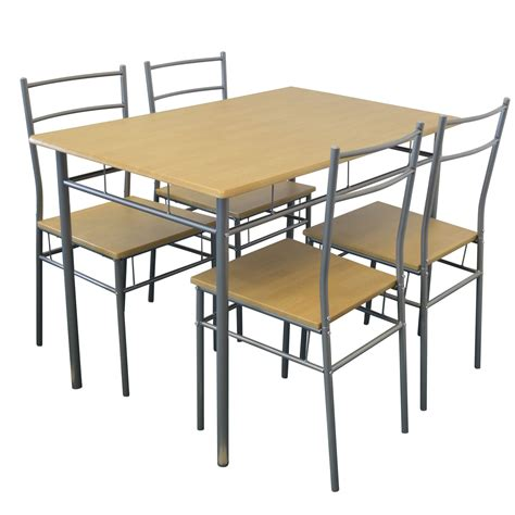 5 Piece Kitchen Dining Room Table Chairs Furniture Set