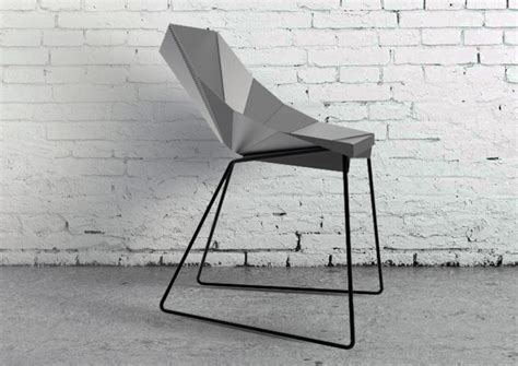 Origami Furniture Design - origami chair with a sharp geometric look digsdigs