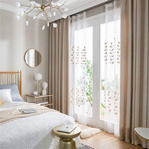 schlafzimmer vorhänge modern 1er pack moderner vorhang unifarbe aus leinen en 2019
