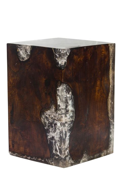 petrified wood block stool petrified forests cracked resin block stool with burned