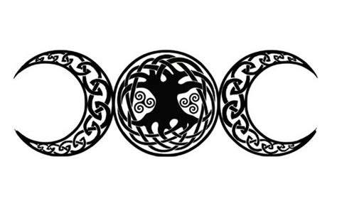 triple goddess tattoo designs wiccan goddess hooray tattoos celtic