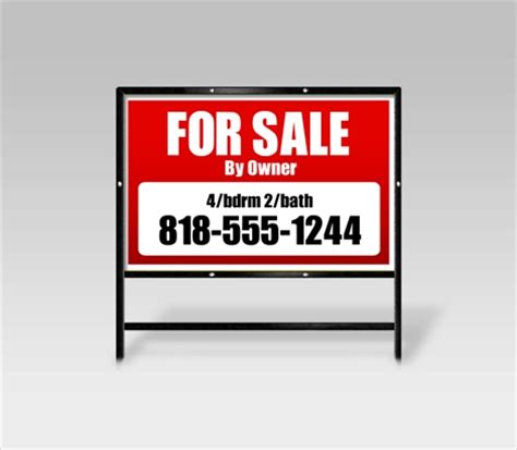 for sale by owner signs fsbo real estate signs