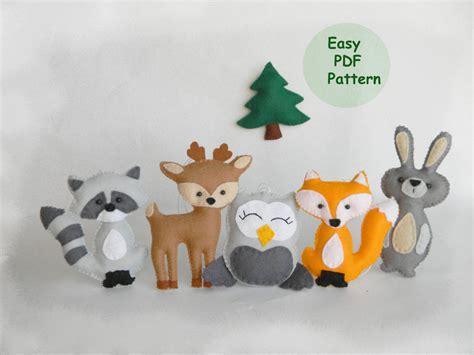 pattern for felt woodland animals sale easy woodland animals pattern hand sewing pattern