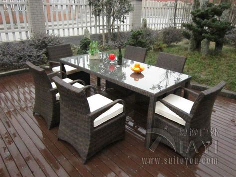 Furniture Transport by 7 Pcs Rattan Garden Dining Sets Washable Resin Wicker